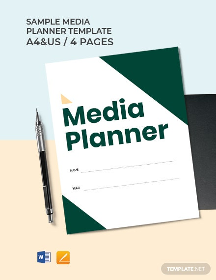 Free Sample Media Planner Template