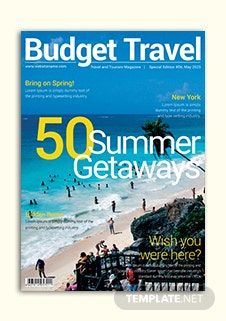 Travel Magazine Cover Template