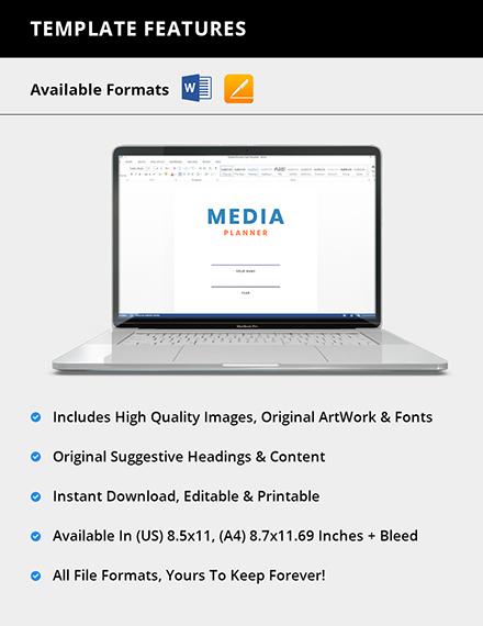 Simple Media Planner Format