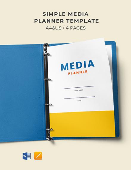 Free Simple Media Planner Template