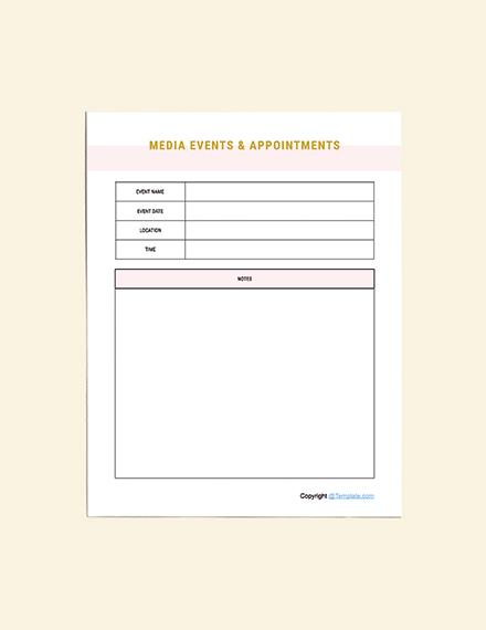 Editable Media Planner Template