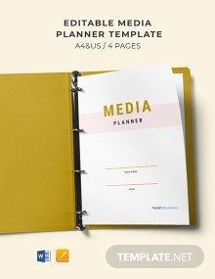 Free Editable Media Planner Template