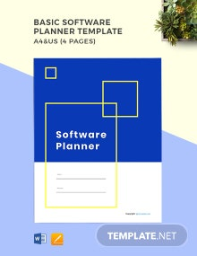 Free Basic Software Planner Template