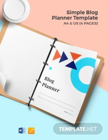Free Simple Blog Planner Template