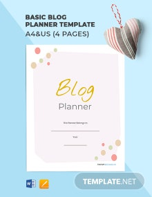Free Basic Blog Planner Template