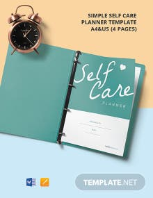 Free Simple Self Care Planner Template