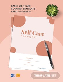 Free Basic Self Care Planner Template