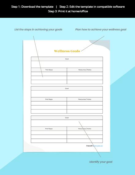 Editable Self Care Planner Schedule