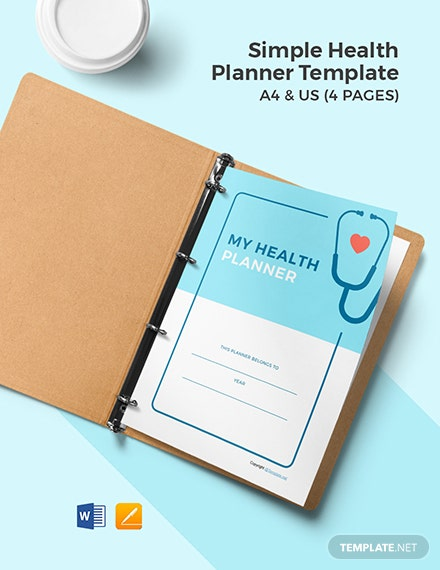 Free Simple Health Planner Template