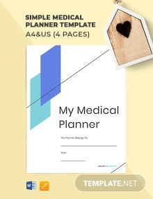 Free Simple Medical Planner Template