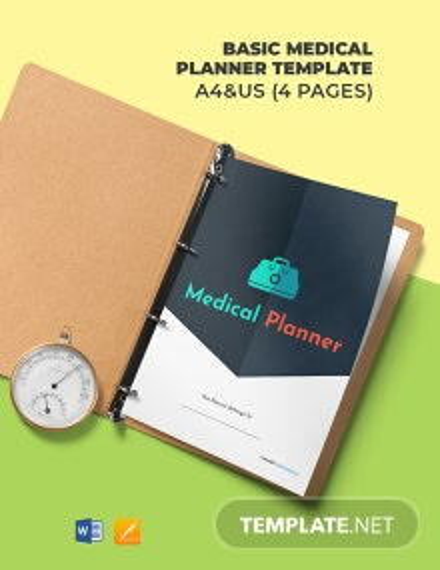 Free Basic Medical Planner Template