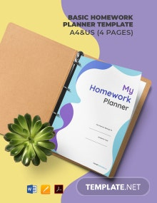 Free Basic Homework Planner Template