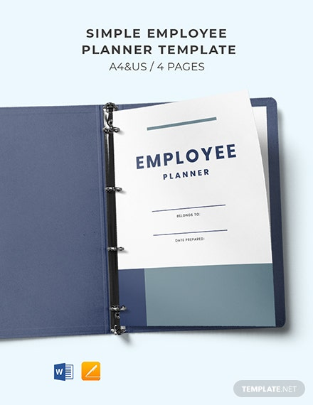Free Simple Employee Planner Template