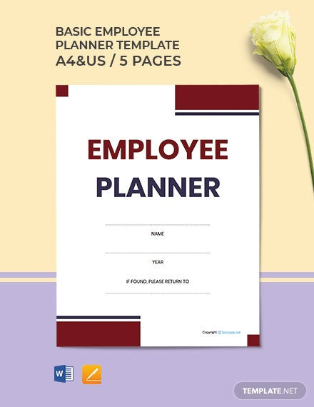 Free Basic Employee Planner Template