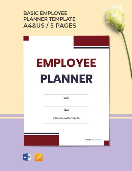 Free Basic Employee Planner Template