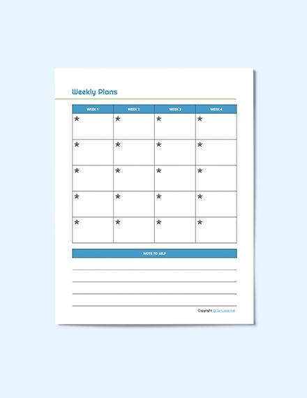 Editable Preschool Planner Format