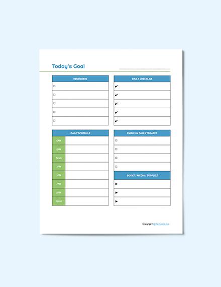 Editable Preschool Planner Template