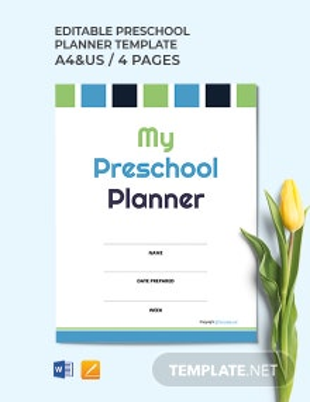 Free Editable Preschool Planner Template