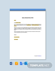 Free Email Resignation Letter Template
