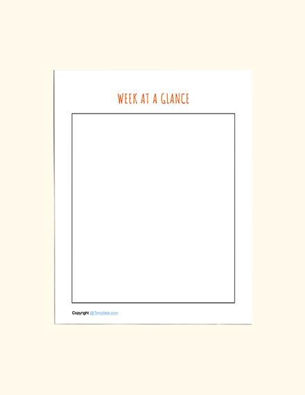 Basic Preschool Planner Example