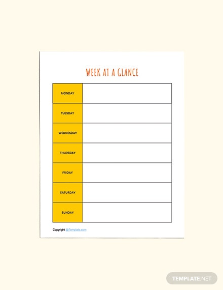Basic Preschool Planner Templates