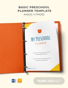 Free Basic Preschool Planner Template