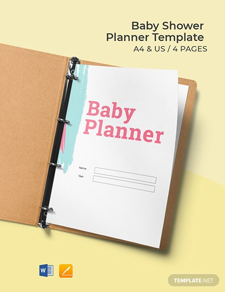Free Editable Baby Shower Planner Template