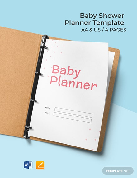 Free Simple Baby Shower Planner Template