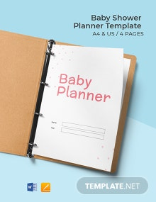 Simple Baby Shower Planner Template