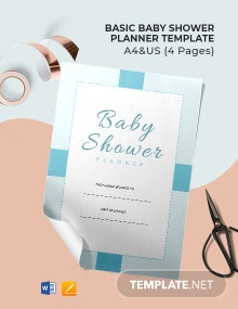 Free Basic Baby Shower Planner Template