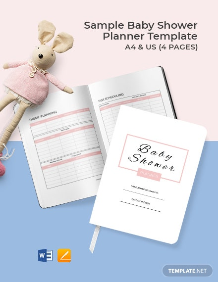 Free Sample Baby Shower Planner Template