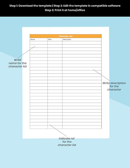 Simple Story Planner printable