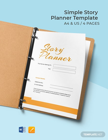 Free Simple Story Planner Template