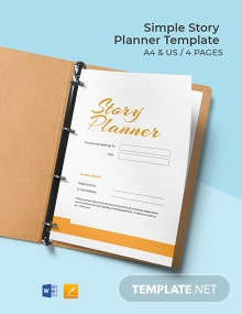 Simple Story Planner Template