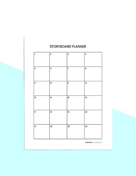 Basic Story Planner Template Sample