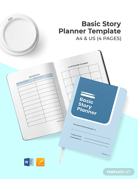 Basic Story Planner Template Format