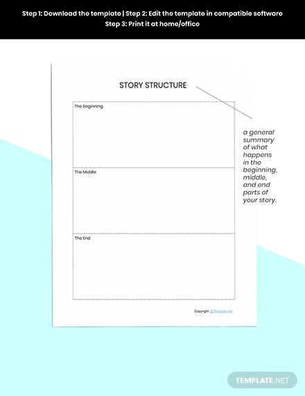 Basic Story Planner Template Example