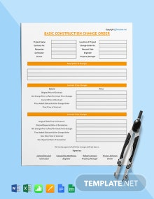 Free Basic Construction Change Order Template