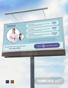 Free Nursing Billboard Template