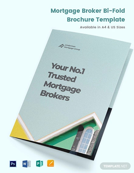 Mortgage Broker Bi-Fold Brochure Template