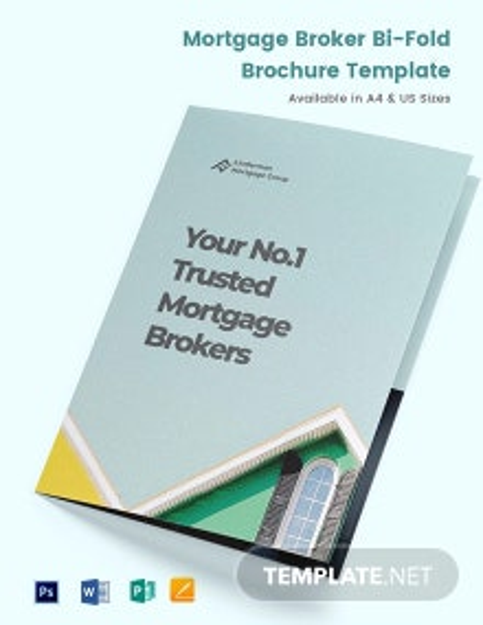 Mortgage Broker Bi-Fold Brochure Template
