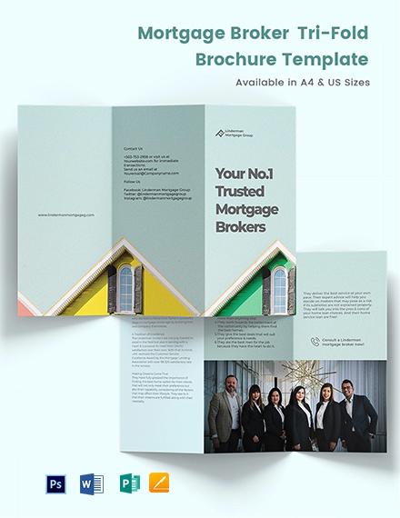 Mortgage Broker TriFold Brochure Template