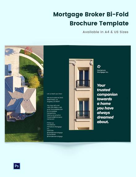 Mortgage Company Brochure Bi-Fold Brochure Template