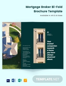 Mortgage Company Bi-Fold Brochure Template