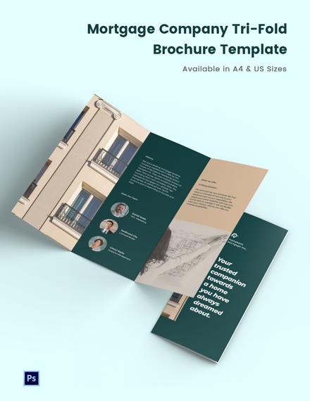 Mortgage Company Brochure Tri-Fold Brochure Template