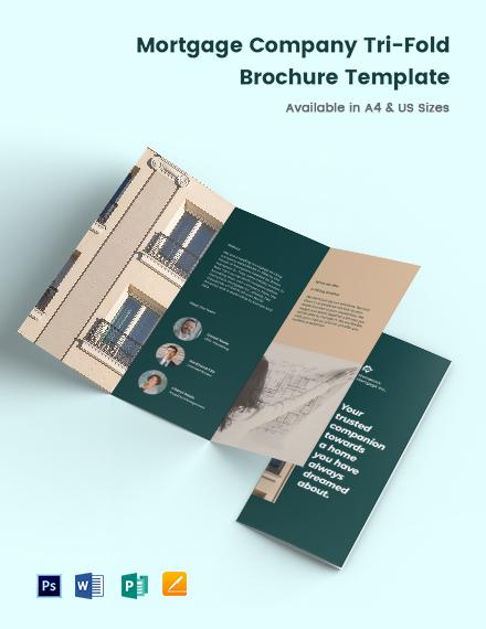 Mortgage Company TriFold Brochure Template