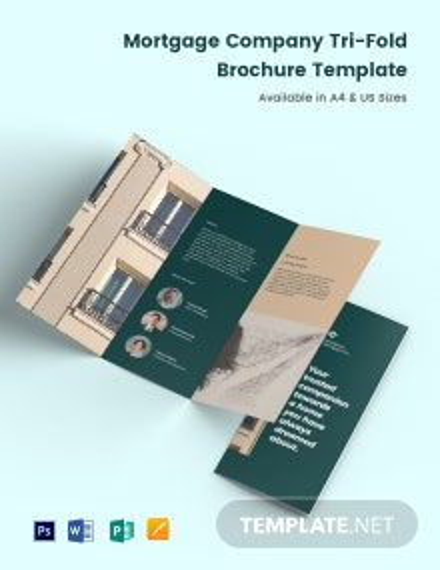 Mortgage Company Tri-Fold Brochure Template
