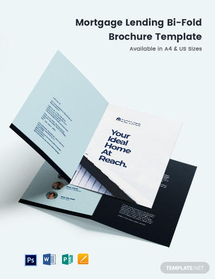 Mortgage Lending Bi-Fold Brochure Template