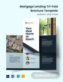 Mortgage Lending Tri-Fold Brochure Template