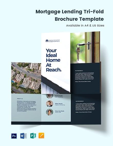 Mortgage Lending Tri-Fold Brochure Template